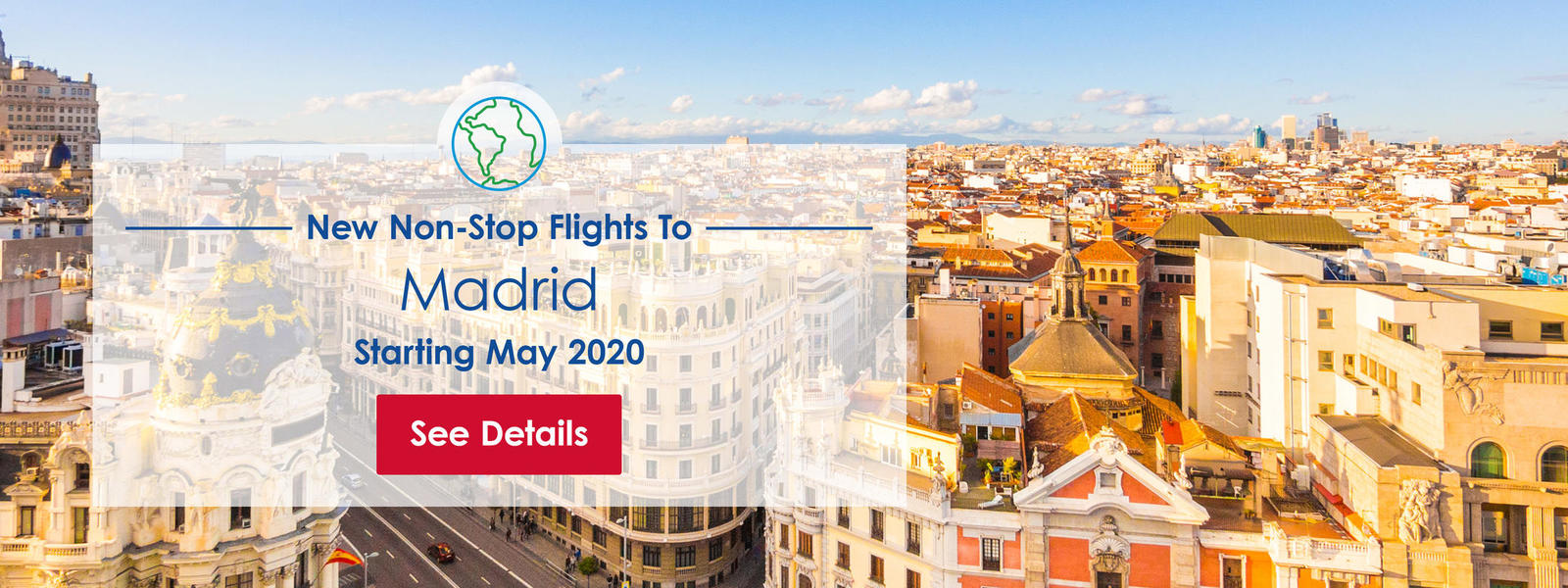 Iberia flights to Madrid, coming May 2020
